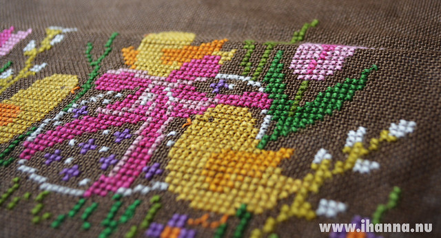 Easter Embroidery: Before I cut it Up (detail)