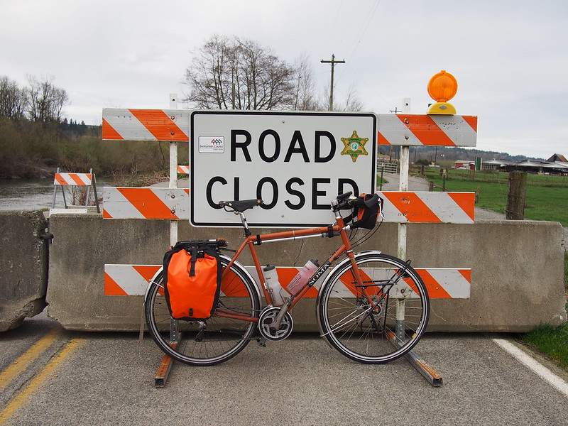 Norman Road Closure: A washout on the Stillaguamish River closed it.