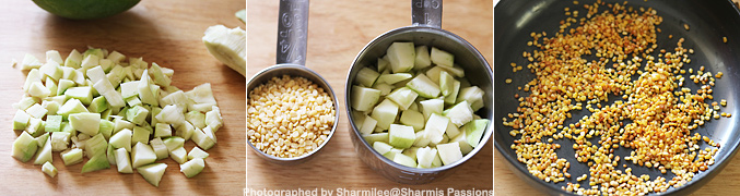 How to make Andhra Style Raw Mango Chutney - Step1