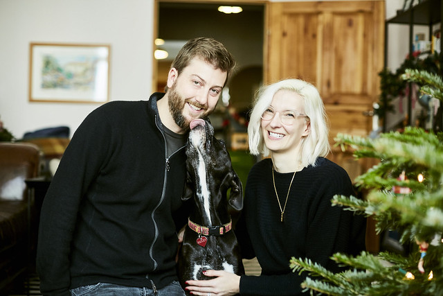 Family holiday portrait with Bailey by photographer Zoë Noble
