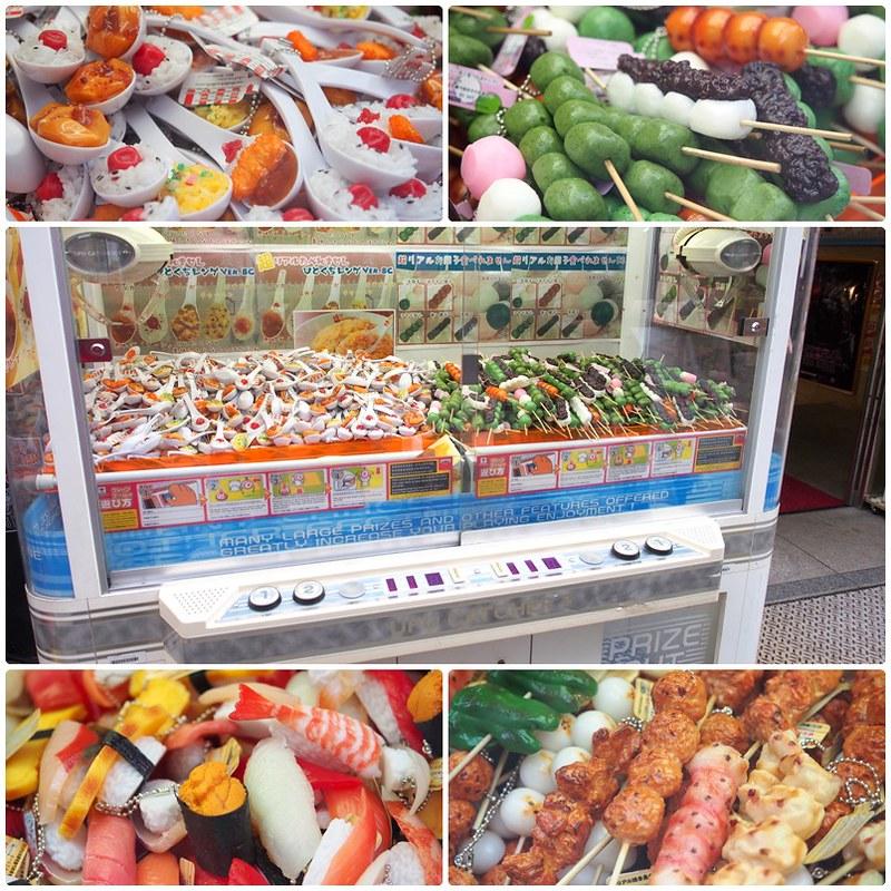 Japanese food keychains