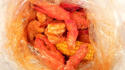 Lobster Claws, Shrimp, Corn, Andouille Sausage