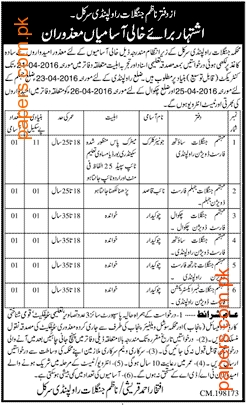 Junior Clerk And Skilled Labour Forest Job 2016