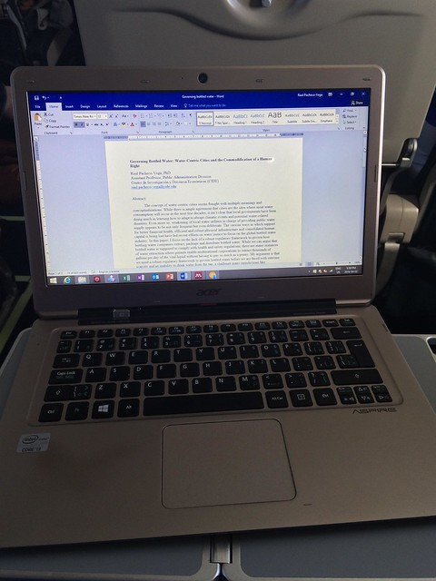 #AcWri on the plane (finishing a paper)