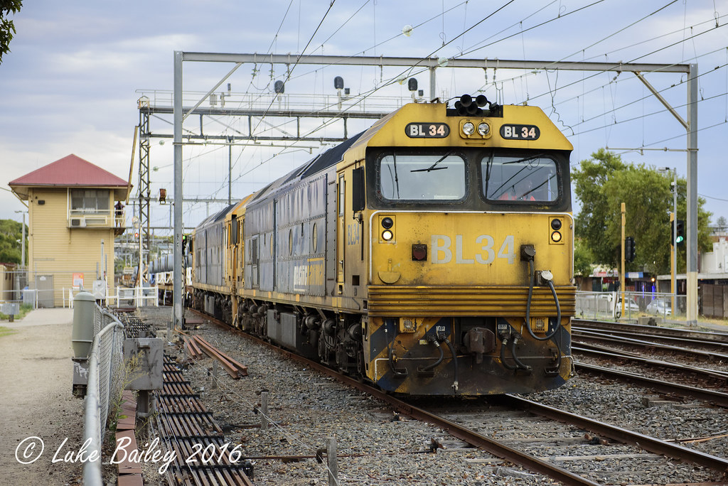 BL34-BL29 is seen stabled in 4rd at Frankston due to a fire that damaged the Stony Point line by Luke's Rail Gallery