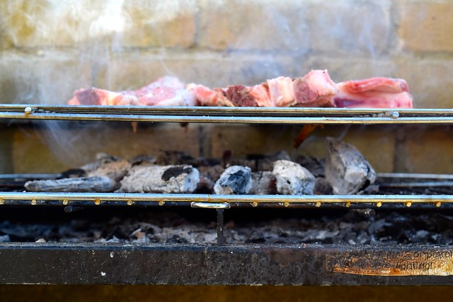 Barbecuing Veal Chops in Brittany, France | www.rachelphipps.com @rachelphipps