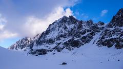 Lodowiec Vedretta di Scerscen i szczyt Piz Sella 3500m