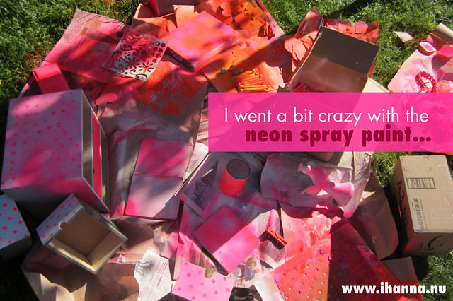 I went a bit crazy with the neon spray paint.... by iHanna