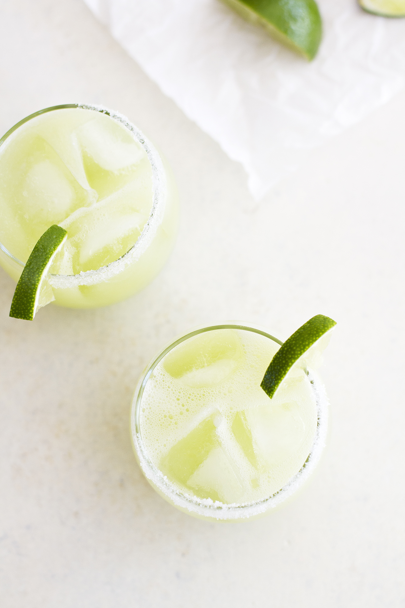 Honeydew Lime Margaritas | girlversusdough.com @girlversusdough