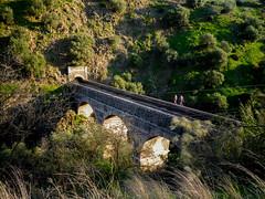 Walking along the aqueduct