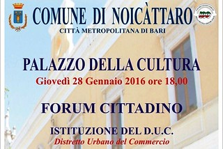 Noicattaro. Forum Duc front