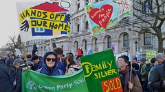 Sarf London housing demo comes to Whitehall, 30/01/16