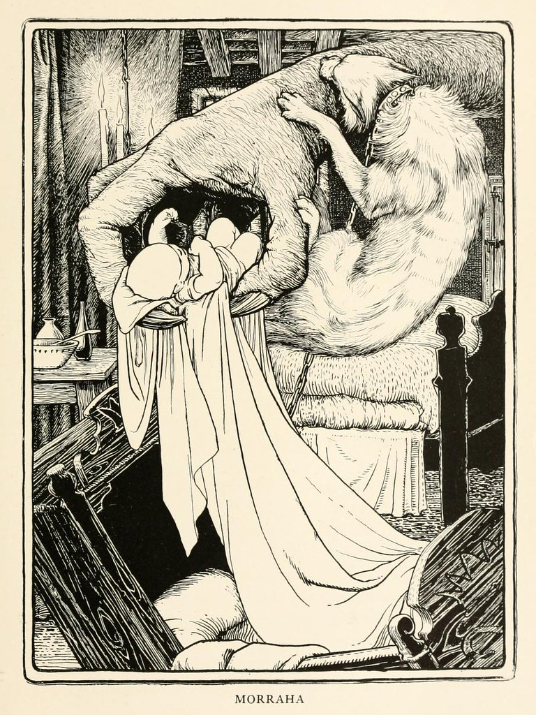 "John D Batten - Morraha, illustration from ""More Celtic Fairy Tales,"" 1892"