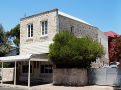 Robe. First settled town of  the South East. The two storey Davisons Shop and residence built in 1855.