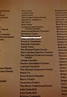 List of Immigrants (Umbreit) -- Ellis Island (NY/NJ) September 1990