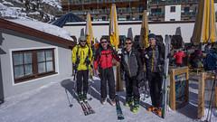 Nasza grupa: Tomasz, Tomasz, Robert, Paweł. Startujemy w Obergurgl.