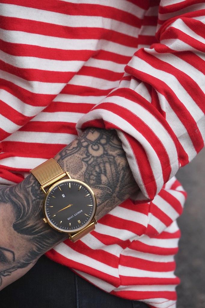 abbott lyon,abbott lyon watches,stripes,red and white stripes,katelouiseblog,jeans,toyshop jamie jeans,fashion blog,style blog,johnny loves rosie,