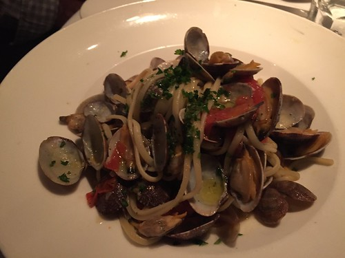 Liguine with clams at Vivace in Belmont