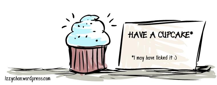 passive aggressive cupcake