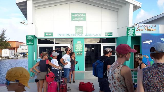 Frontera en Belize, en San Pedro.