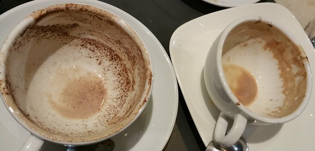 2016-Jan-28 Terra Breads (Olympic Village) - hot chocolate festival - residue in cups