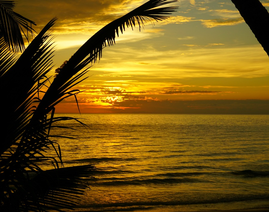 Sunset by the beach in Koh Chang