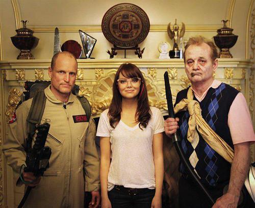 Zombieland - Cast - Woody Harrelson, Emma Stone and Bill Murray