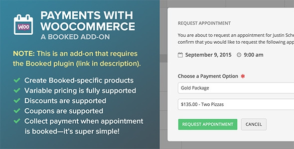 Codecanyon Booked Payments with WooCommerce (Add-On) v1.2.11