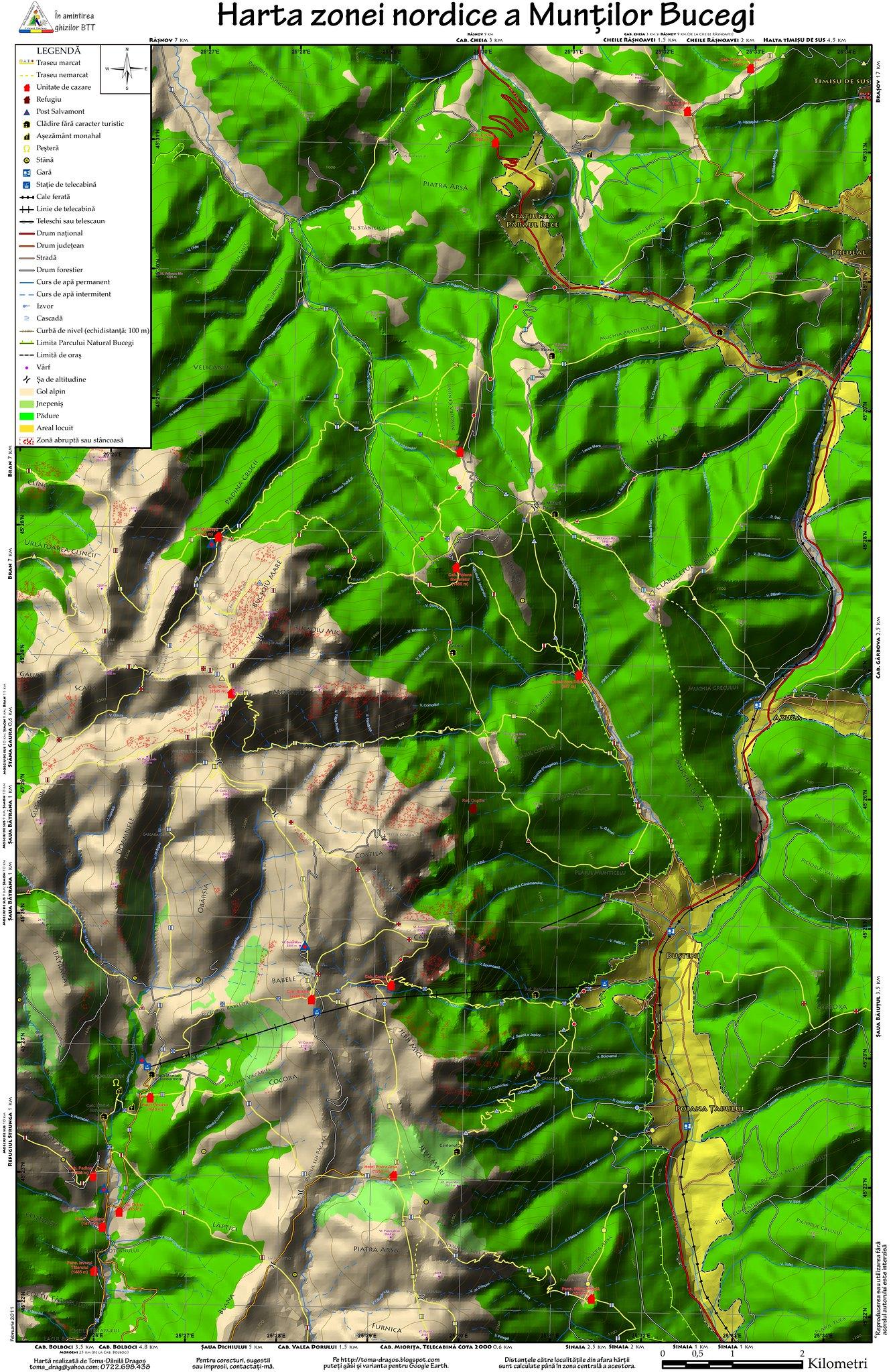 Harta_Bucegi_-_zona_nordica