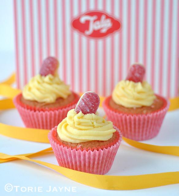 Gluten Free Rhubarb & Custard Cupcake Recipe 11