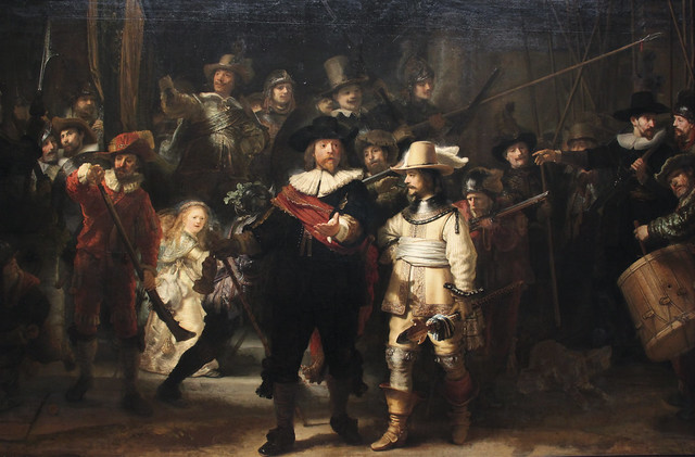 "Militia Company of District II under the Command of Captain Frans Banninck Cocq (""The Night Watch""),  Rembrandt van Rijn, 1642"