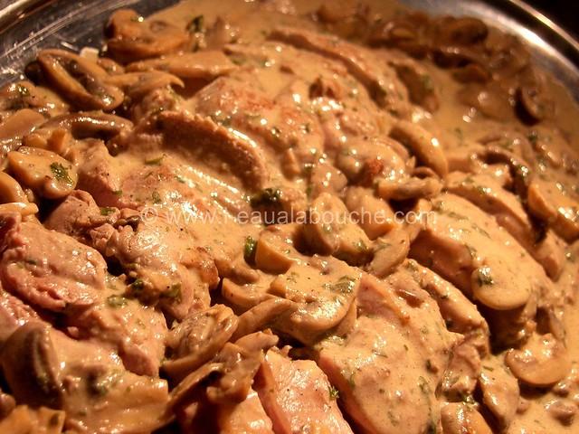 Filets Mignons aux Champignons à la Crème © Ana Luthi Tous droits réservés 05