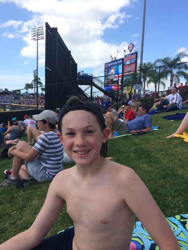 Alex at Spring Training...showin some skin.