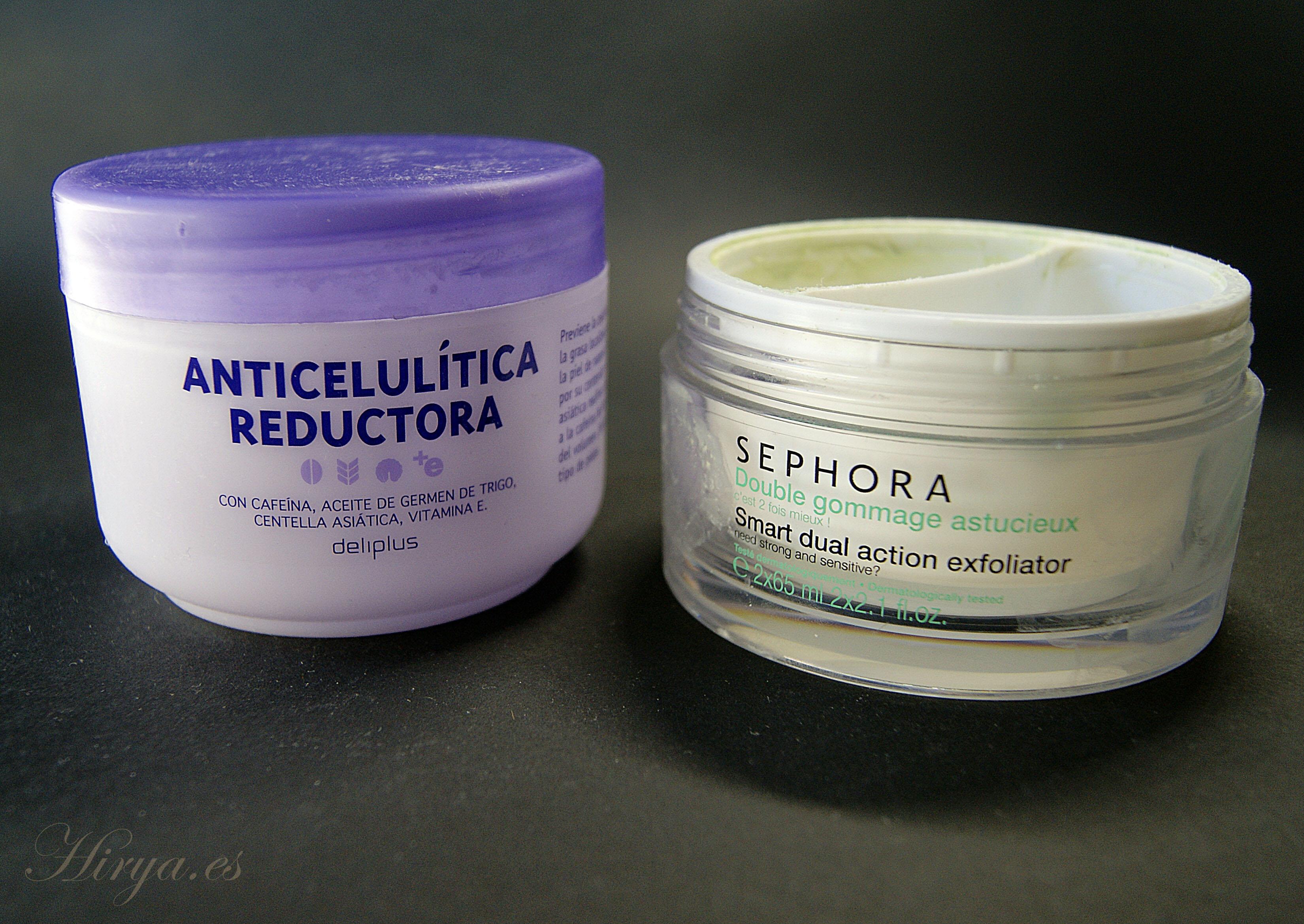 Anticelulitico y Exfoliante terminados
