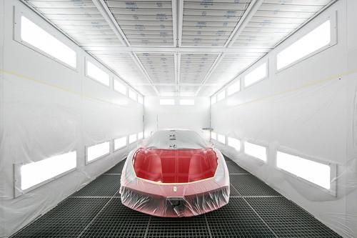 Ferrari 法拉利臺北旗艦售後服務暨展示中心 環保鈑噴中心水性漆烤漆爐