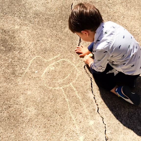 cute & little blog | dylan sidewalk chalk art