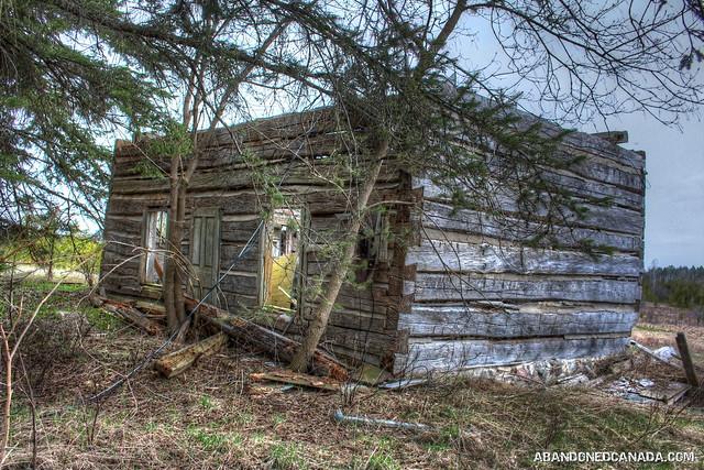 Old Abandoned Log Cabin
