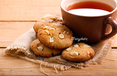 Peanut butter cookies with peanuts