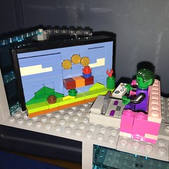 Beast boy playing Super Mario Bros. #lego #supermariobros