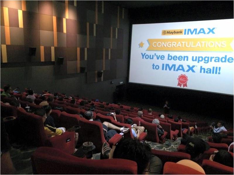 Customers at standard hall being  upgraded to TGV Cinemas MAYBANK IMAX hall