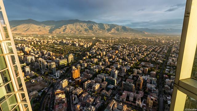Wonderful window views. Santiago de Chile.