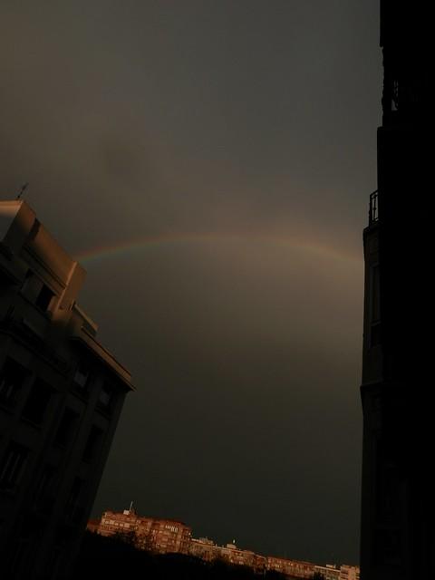 Arco iris desde mi ventana