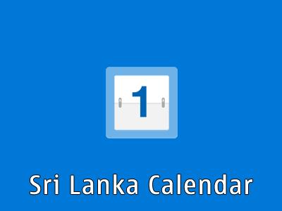 Sri Lanka Calendar