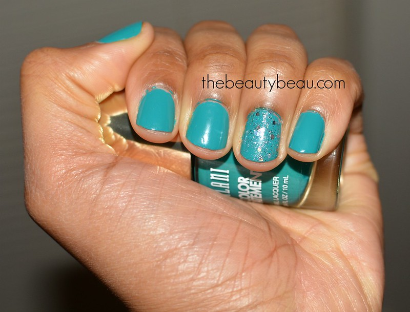 milani cosmetics tattle teal nail swatch