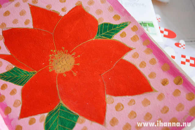 Art Journal: Season Greetings Close up - from iHanna to you guys