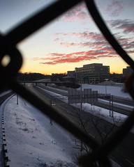Sunset over I-395 in Arlington. #snowzilla