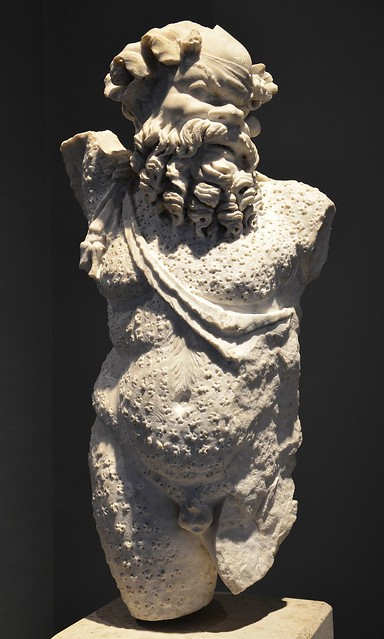 Statue of Silenus or Papposilenus (Father Silenus), from the mid 2nd century AD, excavated from the Villa Spithoever, via Flavia, Palazzo Massimo alle Terme, Rome