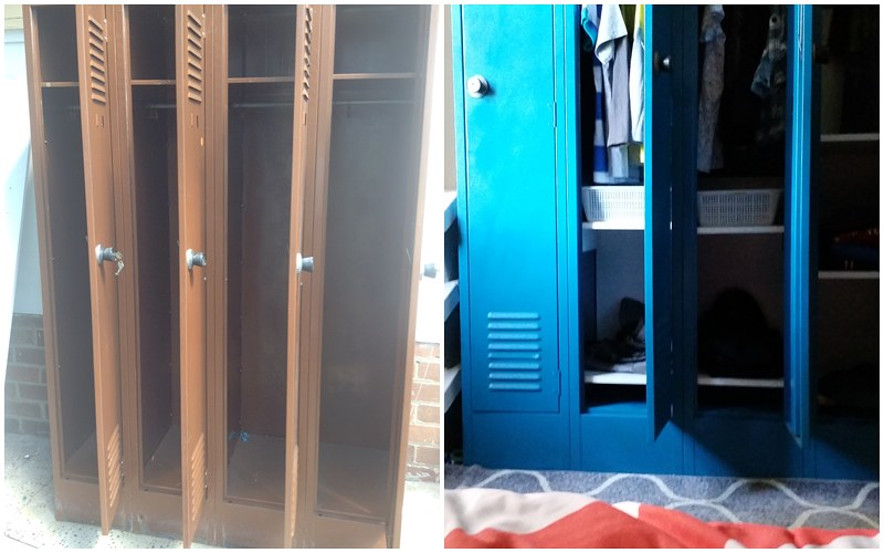 Before & After: Revamping a Vintage Lockers