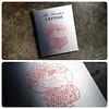 Custom tattoo portfolio book with UV Print & Cure Treatment on brushed silver aluminum