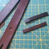 Making a couple matching belt loops. Finishing a black belt and a brown belt today.  #fullgrain #leather #handmade #belt